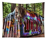 Whistler Train Wreck Box Car Tapestry