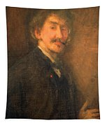 Whistler's Brown And Gold Self Portrait Tapestry