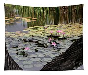 Wild Water Lilies In The River Tapestry