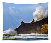 Winter Storm At Cape Kiwanda - Oregon Tapestry