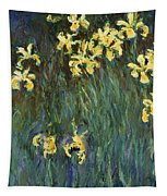Yellow Irises  Tapestry