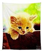 Yellow Kitten Tapestry
