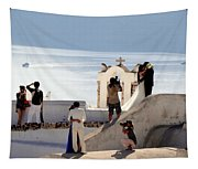 The Shoot On Santorini In Greece Tapestry