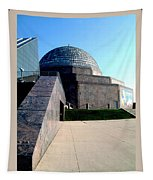 2009 Adler Planetarium With Glass Sky Pavilion II Chicago Il Usa Tapestry
