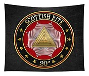 20th Degree - Master Of The Symbolic Lodge Jewel On Black Leather Tapestry