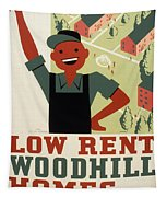 New Deal Wpa Poster Tapestry