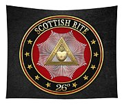 26th Degree - Prince Of Mercy Or Scottish Trinitarian Jewel On Black Leather Tapestry