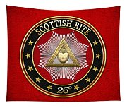 26th Degree - Prince Of Mercy Or Scottish Trinitarian Jewel On Red Leather Tapestry