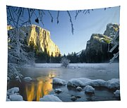 2m6538-yosemite Valley In Winter Tapestry