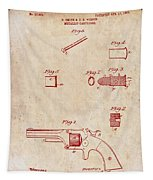 Antique Smith And Wesson Patent For A Metallic Cartridge 1860 Tapestry