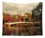 Autumn At Bow Bridge Tapestry