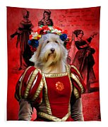 Bearded Collie Art Canvas Print Tapestry