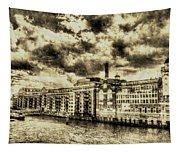Butlers Wharf London Vintage Tapestry