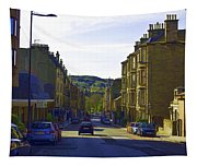 Car In A Queue Waiting For A Signal In Edinburgh Tapestry