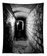 Catacomb Tunnels In Paris France Tapestry