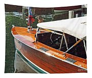 Chris Craft Runabout On Geneva Tapestry