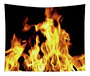 Close-up Of Fire Flames Tapestry