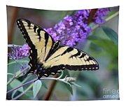 Eastern Tiger Swallowtail Butterfly On Butterfly Bush Tapestry