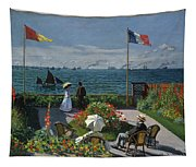 Garden At Sainte-adresse Tapestry