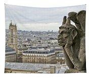 Gargoyle Overlooking Paris Tapestry