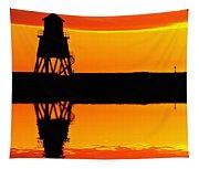 Groyne Lighthouse At Sunrise Tapestry