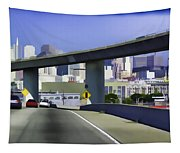 Heading Into The Busy Part Of San Francisco Tapestry