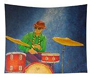Jazz Drummer Tapestry