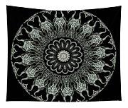 Kaleidoscope Ernst Haeckl Sea Life Series Black And White Set On Tapestry