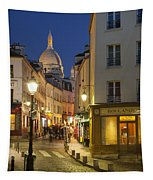 Montmartre Twilight Tapestry
