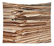 Newspaper Stack Tapestry