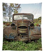 Old Junker Car Tapestry