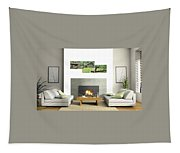 3-panel - Colonial Village Tapestry