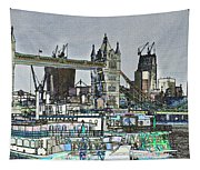 River Thames Sketch Tapestry