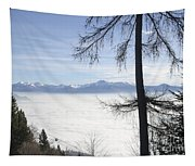 Sea Of Fog Over An Alpine Lake Tapestry