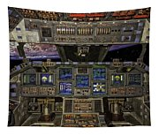 Space Shuttle Cockpit Tapestry