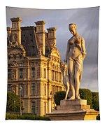 Statue Below Musee Du Louvre Tapestry