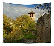Street In Historic Albaycin In Granada Tapestry