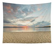 Sunset On South Bay, Lake Superior Tapestry