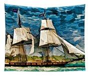 Us Brig Niagra  Tapestry