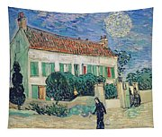 White House At Night Tapestry