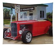32 Ford At Filling Station Tapestry