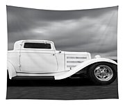 32 Ford Deuce Coupe In Black And White Tapestry