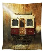 321 Antique Passenger Train Car Textured Tapestry