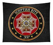 33rd Degree - Inspector General Jewel On Black Leather Tapestry
