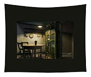 3d Dining Table Room Tapestry