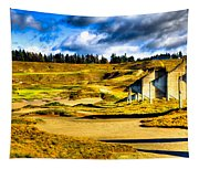 #18 At Chambers Bay Golf Course - Location Of The 2015 U.s. Open Tournament Tapestry