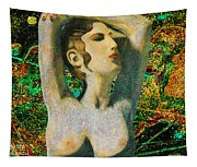 Aphrodite And  Cyprus Map Tapestry