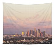 Elevated View Of City At Dusk, Downtown Tapestry