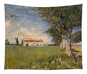 Farmhouse In A Wheat Field Tapestry
