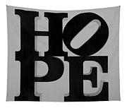 Hope In Black And White Tapestry
